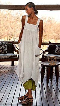 Crêpe-Trägerkleid 2 of 2 apron dress