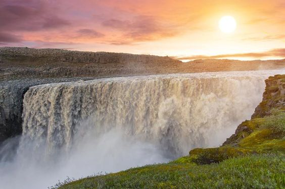 Dettifoss is located in Vatnajökull National Park in Northeast Iceland. It is the largest waterfall in Europe in terms of water flow, and is said to be the most powerful as well. Click through to see 15 of Iceland's BEST waterfalls!