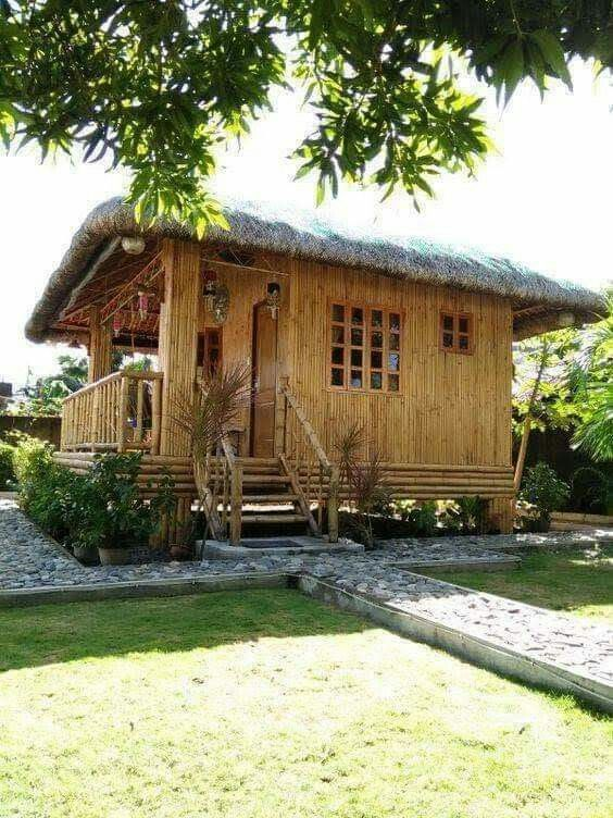 Pin By Lucy Campos On Casas Y Mil Disenos In 2020 Bamboo House Design Hut House Rest House