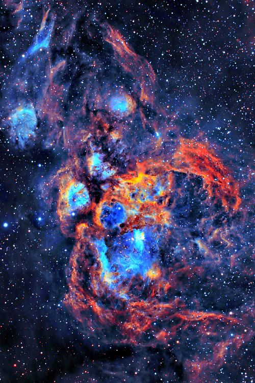 """NGC 6357 - War and Peace Nebula  """"When I consider thy heavens, the work of thy fingers, the moon and the stars, which thou hast ordained;""""  Psalm 8:3"""