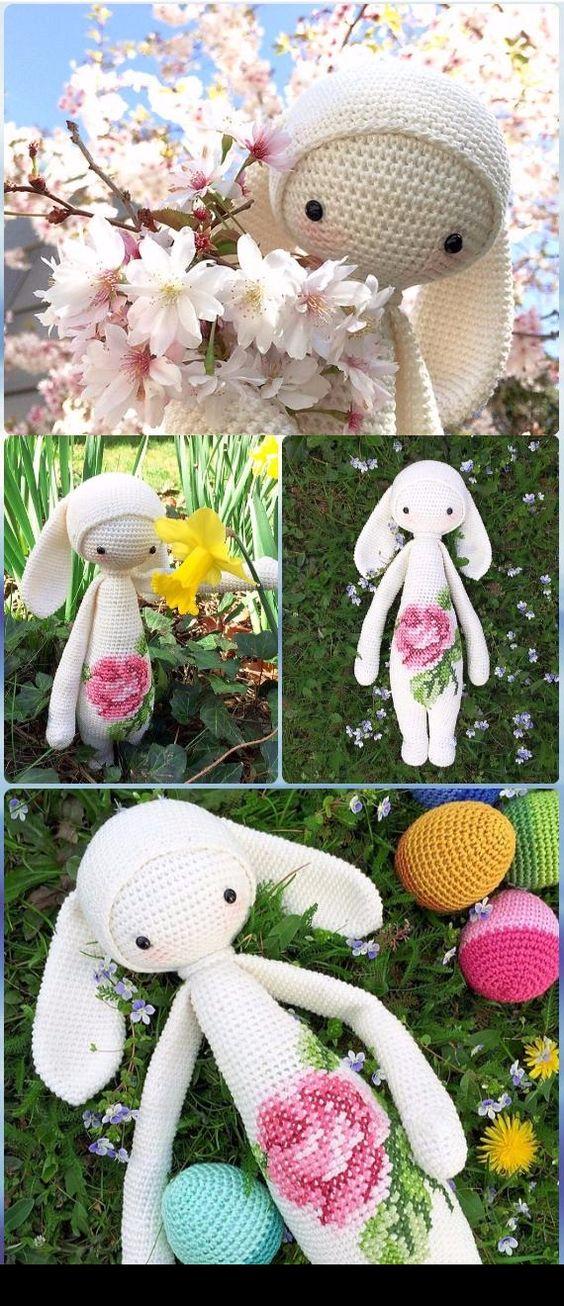 Crochet RITA THE RABBIT Bunny Doll Free Pattern - Crochet Amigurumi Bunny Free Patterns