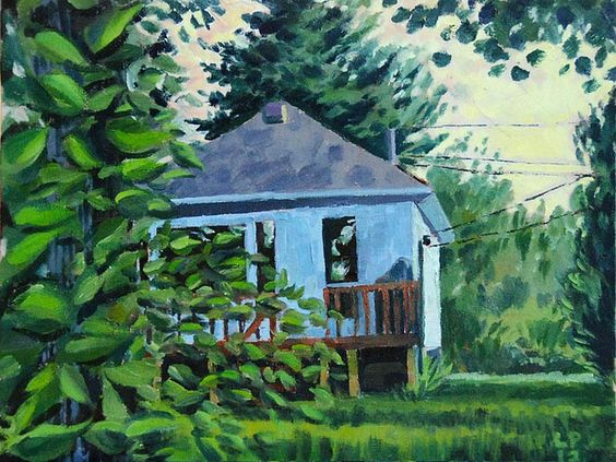Mike's cottage | Painted by Leif Peng | August 2012