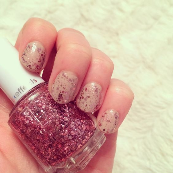 pink sparkles nude