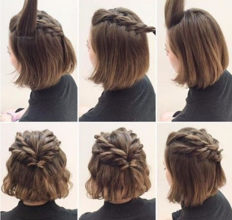 15 Disenos De Trenzas Para Chicas Con Cabello Corto Destinado Para Pelo Corto Trenzas Imagenes Short Hair Tutorial Short Hair Updo Braids For Short Hair