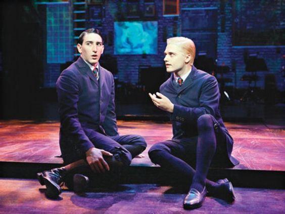 Ernst (Ben Fankhauser) & Hanschen (Andy Mientus), Vineyard scene, Spring Awakening 1st National Tour