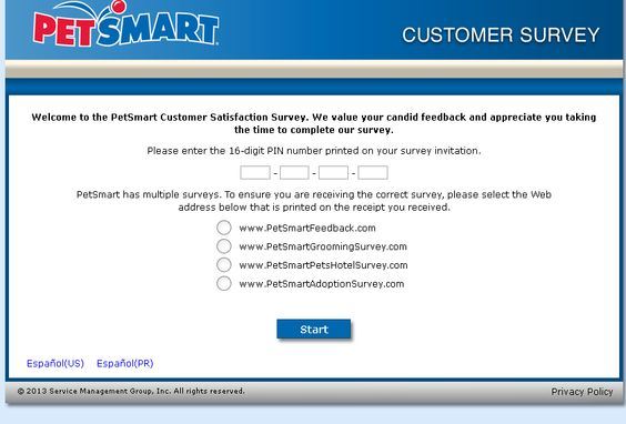 Petsmart Adoption Customer Satisfaction Survey Www