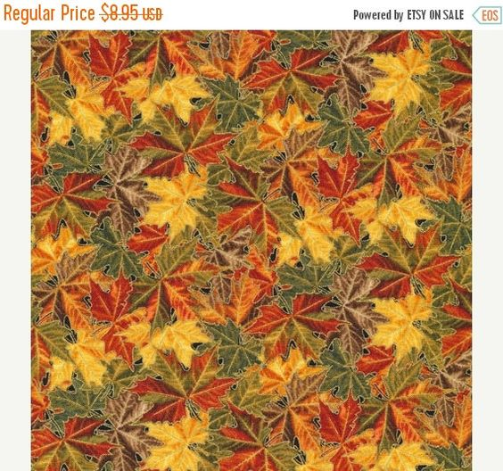 FLASH SALE - Into the Woods-Fall Leaves~Cotton Fabric, Fabri-Quilt Fast Shipping F655