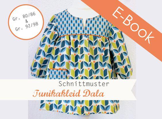 Kindermode - E-Book Schnittmuster Tunikakleid Dala  - ein Designerstück von EmmyLou-Design bei DaWanda