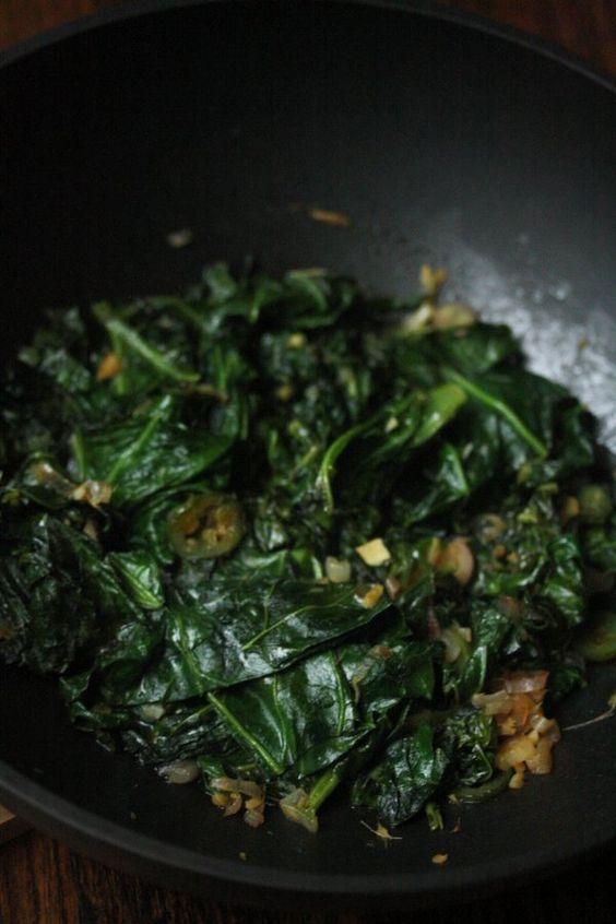 Collard greens, Collard greens recipe and Greens recipe on Pinterest
