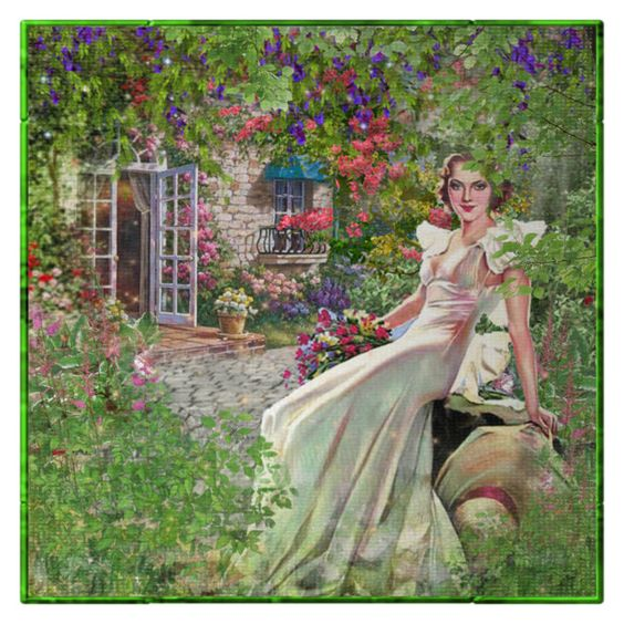 A Vintage Morning by ritadolce on Polyvore featuring art and vintage: