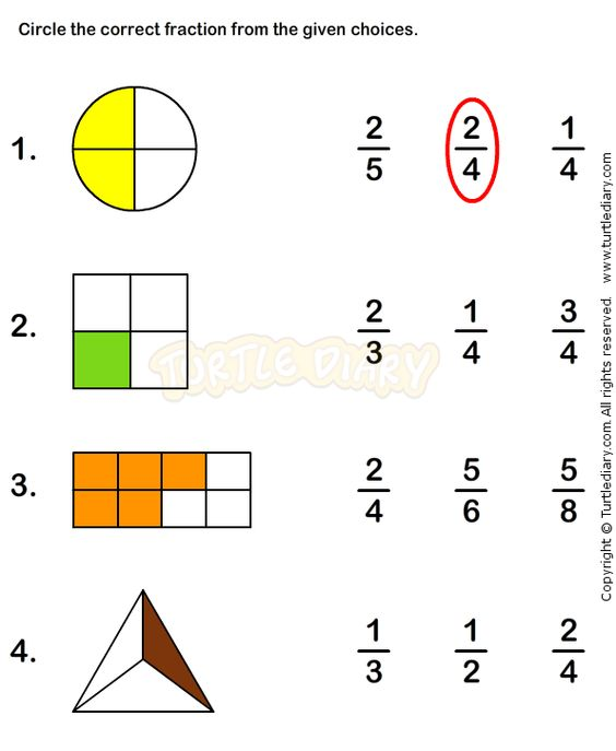 Fractions Worksheet 2 Math Worksheets Grade 1 Worksheets