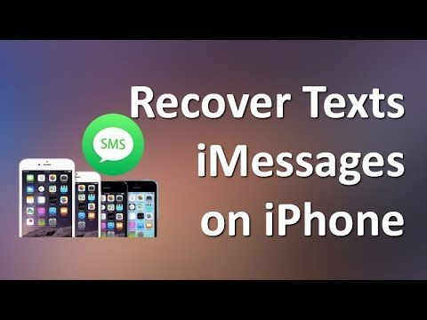 View This Video To Learn A Simple Way To Recover Deleted Text