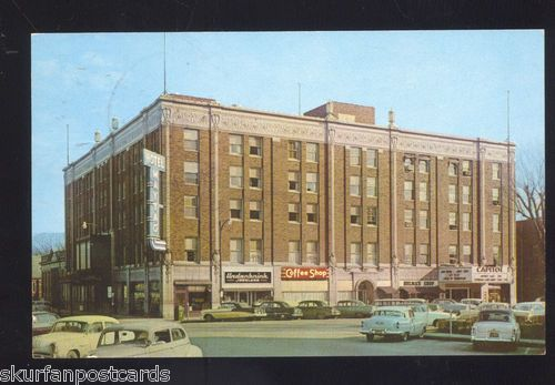 1950 S Cars Newton Iowa Downtown Hotel Maytag Vintage Advertising Postcard Pinterest Hotels And