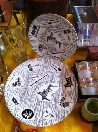 Homemaker plates at the Bows & Braces Vintage Fair - picture by Lost Property Vintage