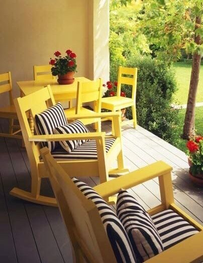Yellow Outdoor Furniture