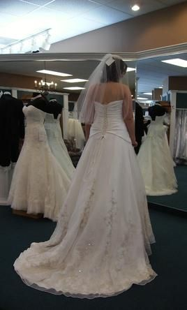 Smart idea.  TONS of wedding dresses that are pre-owned but most have never been worn!