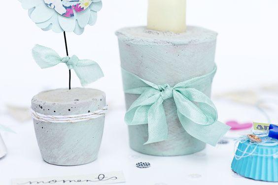 Kerzenhalter selber machen mit Blitzzement    DIY von Sandra Dietrich für DIYF.de