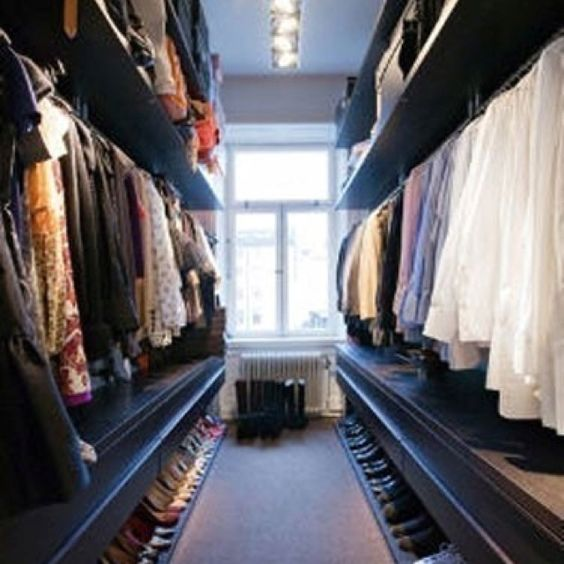 His and hers side closet however not so extreme to where for His and hers wardrobe