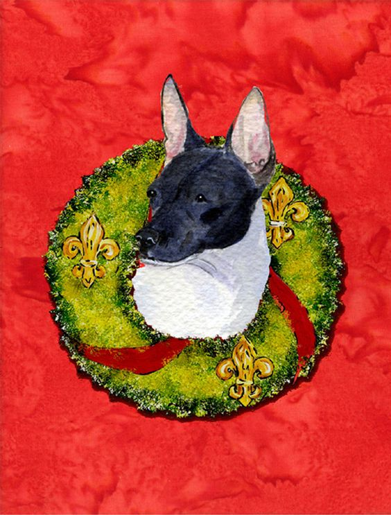 Rat Terrier Flag Canvas House Size