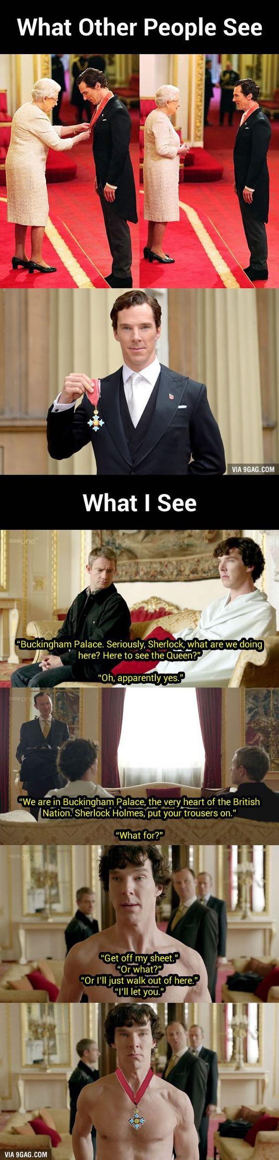Sherlock Meets The Queen: Benedict Cumberbatch Receiving CBE Looks Oddly Familiar…