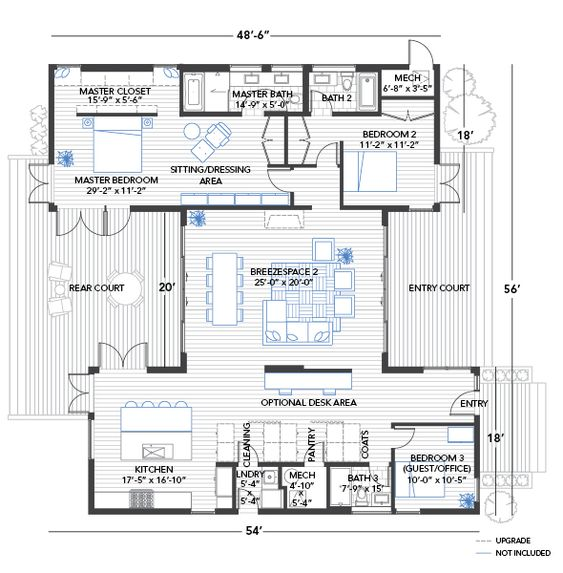 Eco home floorplan i would take out the master bedroom for Master bedroom with sitting area floor plan