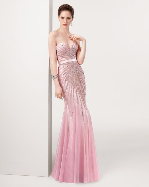 Vestidos de noche rosa viejo