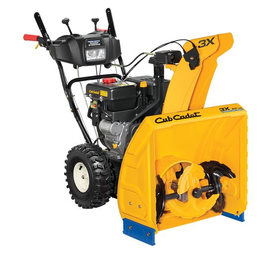 "CubCadet - 3X™ 24"" HD  THREE STAGE?! Who even knew that was possible. This thing looks tough enough to do my drive way yet small enough to store on my porch."