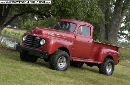 1950 Ford F3 4x4 Pickup Truck Ford Trucks Trucks 1952 Ford Truck