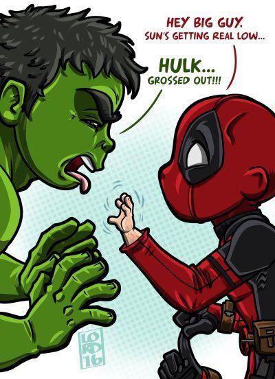 "Lord Mesa on Twitter: """"Grossed Out""L✋@VancityReynolds @MarkRuffalo @deadpoolmovie #Deadpool #hulk https://t.co/skZwayaB8h"""