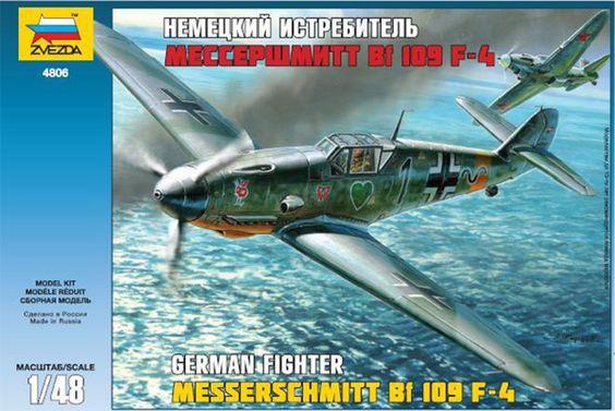Zvezda Messerschmitt Bf-109 F4 - Modeledo.pl