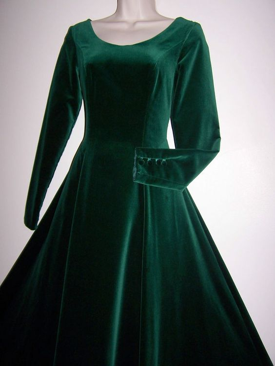 laura ashley vintage jade green velvet maxi dress. Black Bedroom Furniture Sets. Home Design Ideas