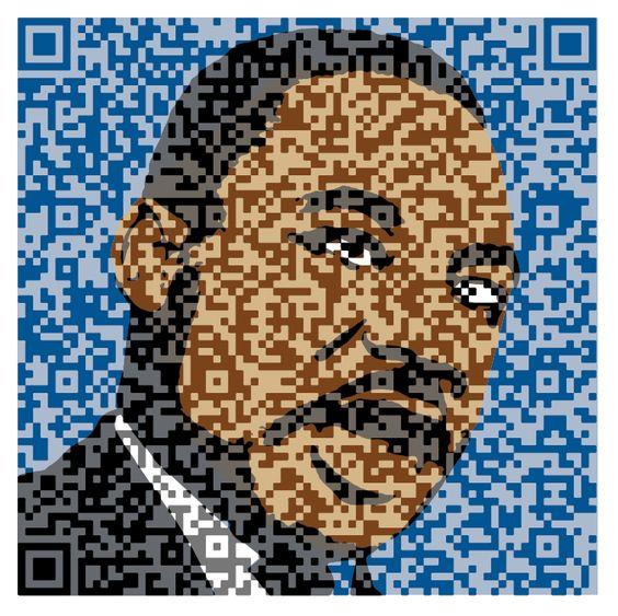 MLK qr code art