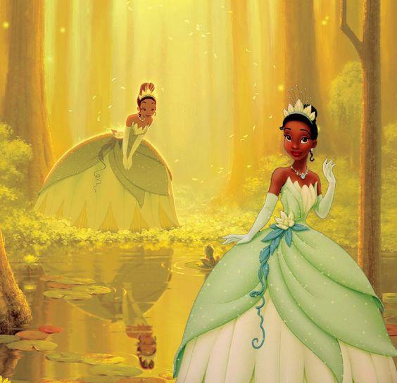 Princess tiana lily wedding dress disney afro for Princess tiana wedding dress