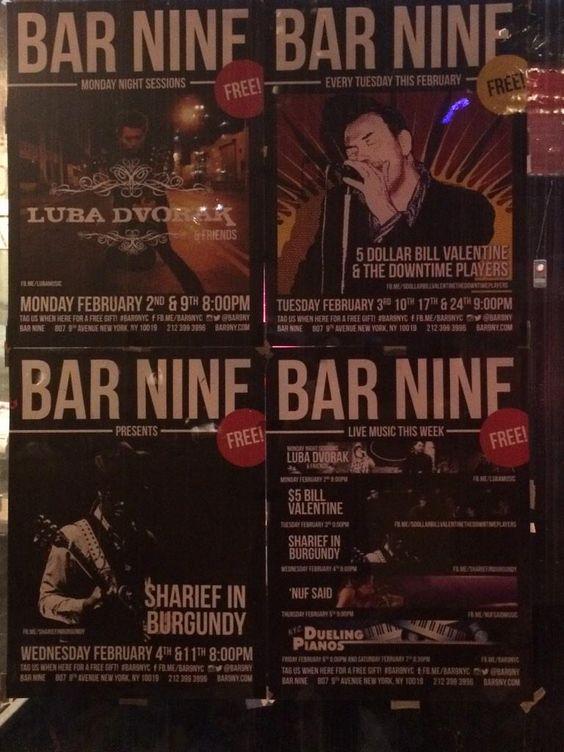 live music Bar Nine nYc Hells Kitchen http://www.genwww.com