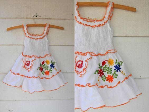 Embroidered Baby Girl Mexican Senorita Sun Dress by LaDeaDeiSogni, $26.00
