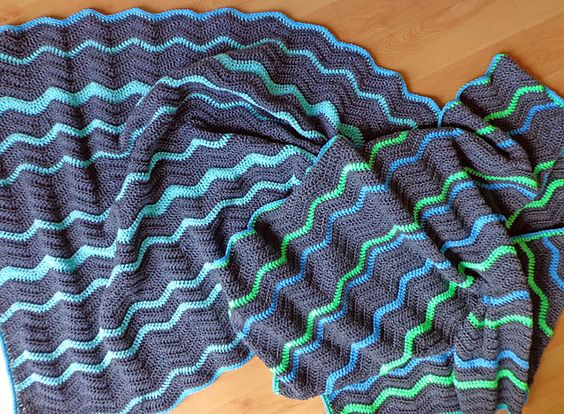 👮🏻 Colcha de Crochê Inspiração Colorida Ziguezague -  / 👮🏻 Crocheting from Quilt Inspiration Colorful Zigzag -