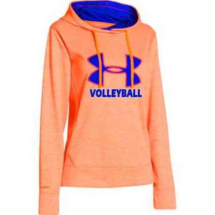Volleyball.com - Casual Wear - Under Armour Women's Big Logo Twist Hoodie - Neon Orange