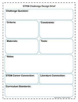 Stem Challenge Design Brief Template Design Your Own