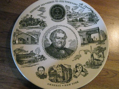 Amherst, NY Sesquicentennial 1818 - 1968 Collector Plate (this item was sold on Ebay)