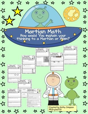 math worksheet : martian math how would you explain your thinking to a martian  : Sunshine Math Worksheets