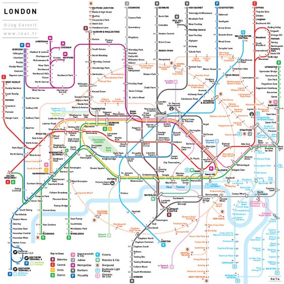INAT is a mapping standard developed by French Serbian architect – French Tube Map
