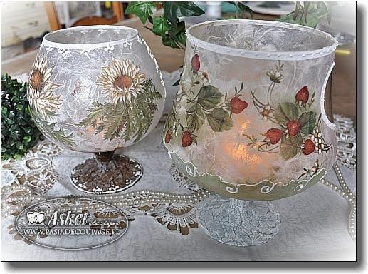 Copas decoradas decoupage sticle pinterest - Copas de cristal decoradas ...