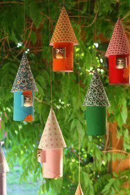 D co petite maison en rouleau de carton for Bricolage petits plans de maison