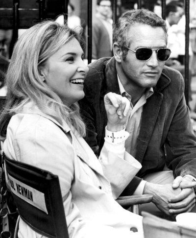 "Joanne Woodward and Paul Newman.  My favorite Newman quote when asked about his relationship with her and how other stars were having affairs, ""Why go out for hamburger when I can get steak at home?"" Loved his eyes!!"