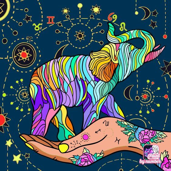 Zodiac Color By Number Star Coloring Pages Coloring Pages Coloring Books