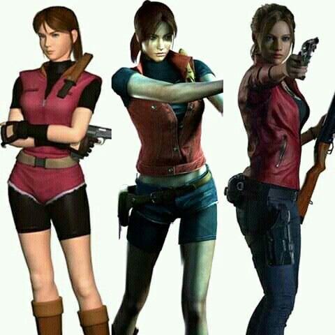 Claire Redfield Re2 Vs Re Dc Vs Re2r Resident Evil Girl