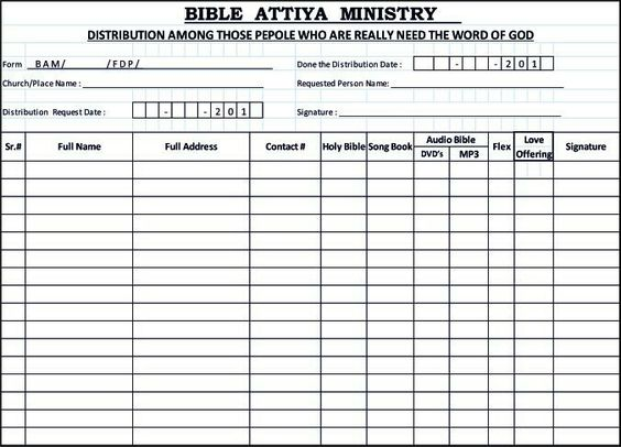 Request Form These are Our Bible Attiya Ministry Pages Links - check request forms