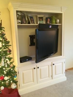 Top Should Be Recessed Only Bottom Sticks Out Beyond Wall Wall Mounted Tv Full Motion Tv Wall Mount Tv Wall
