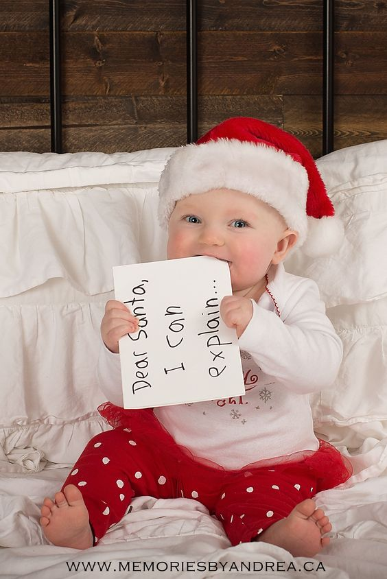 night before christmas, mini session, photography, girl, baby, hat, bed, santa please, pj's, jammies, rustic, i can explain: