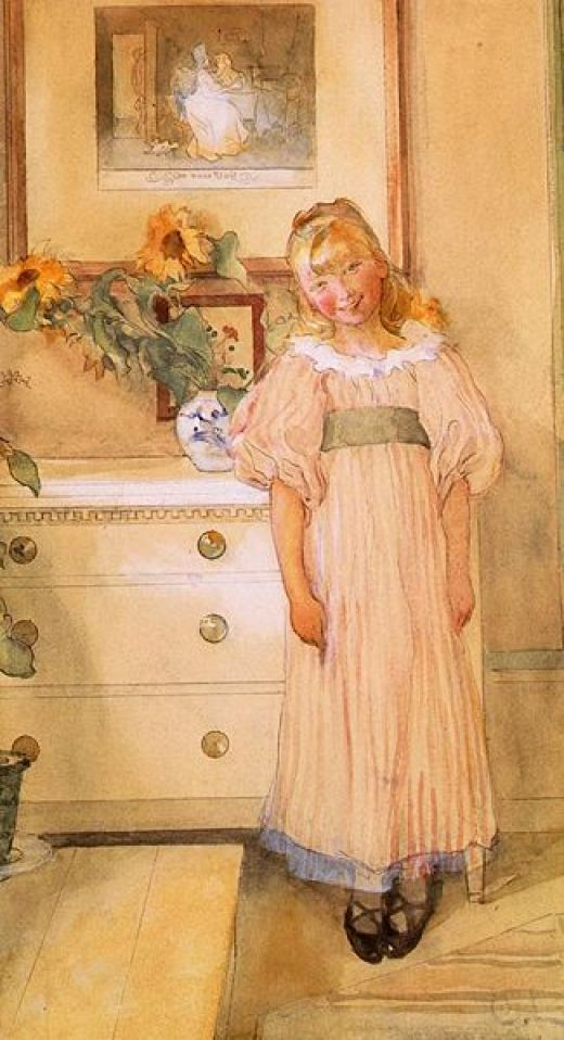 Sunflowers by Carl Larsson. Courtesy of Wiki Commons